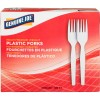 Heavyweight White Plastic Forks