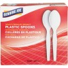 Heavyweight White Plastic Spoons