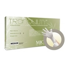 Tranquility White PF Nitrile Exam Gloves